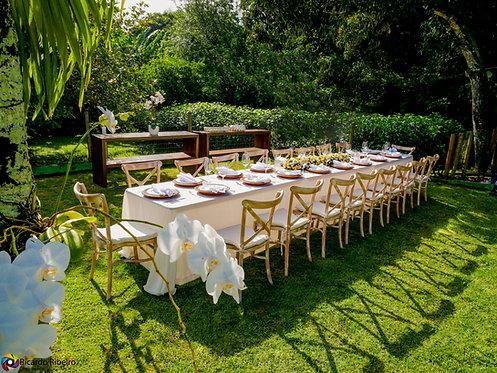 Toalha para Mesa de Convidado x Buffet (Cores: Palha ou Branca)