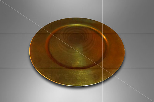 Sousplat Dourado Liso 0,33 de diâmetro