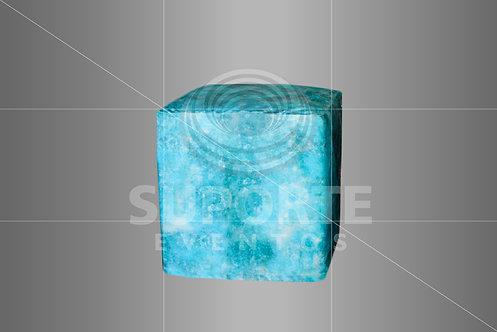Puff Azul Tiffany Boho 0,50 x 0,50 com Capa
