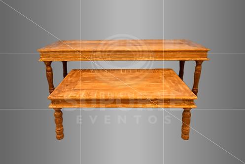 Conjunto de Mesas com Pred. Branca (2,50 x 1,00 x 0,78 e 1,50 x 1,00 x 0,51)