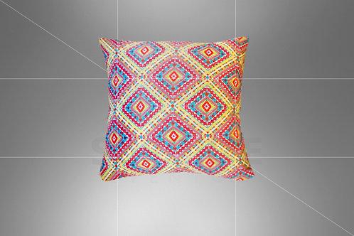 Almofada Boho Pink Triângulo 0,40 x 0,40 (Ref: B04)
