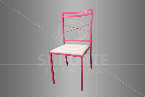 Cadeira Boho Pink Metálica