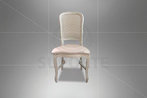 Cadeira Luis Felipe Nude com Palha