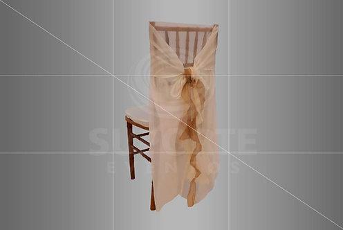 Acessório em Voil para Cadeira Cor Nude