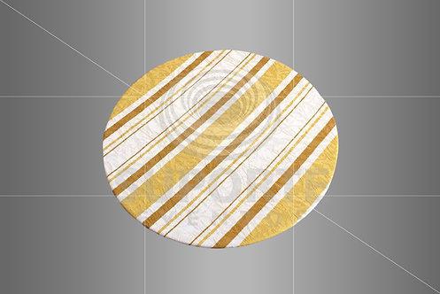 Sousplat Parise Amarelo Listrado 0,32 de diâmetro