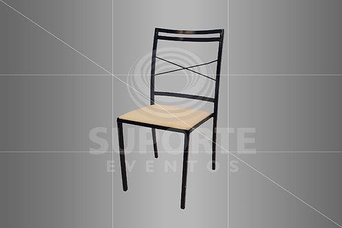 Cadeira Boho Azul Bic Metálica