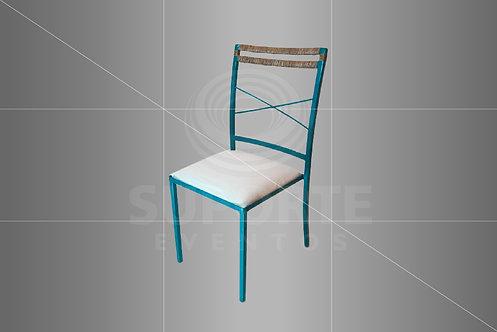 Cadeira Boho Tifanny Metálica com Detalhe em Vime