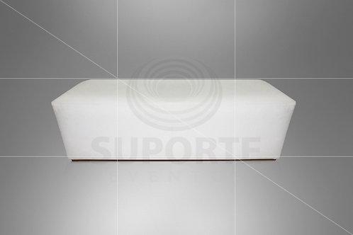 Puff Branco 1,60 x 0,60 com Capa em Tecido Geométrico