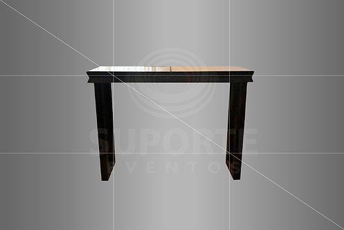 Mesa Bistrô Mini Coletiva Preta 1,50 x 0,45 x 1,10 (Opção c/ Tampo Espelhado)