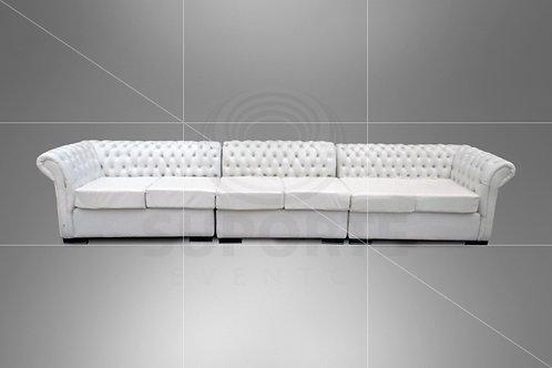 Sofá Branco Captonê (4, 6 ou 8 lugares)