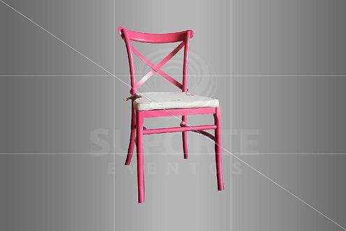 Cadeira Paris Pink em Madeira