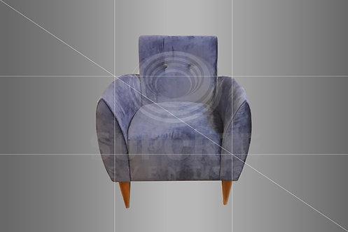 Poltrona Vintage Azul 0,65 x 0,61 x 0,83