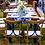 Thumbnail: Cadeira Florença em Madeira com Detalhe Azul