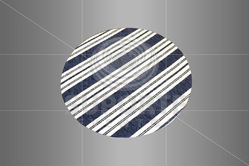 Sousplat Parise Azul Listrado 0,32 de diâmetro