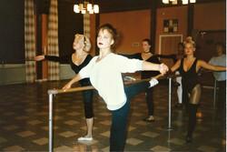 Balettexercis i balettsalen, Malena