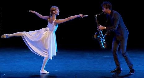 Magnus Lindgren och eleven Anna Jönsson. Dans och musikgalan JOYFUL i Västerås