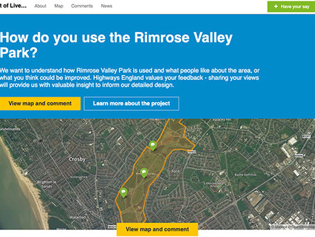 "How to take part in Highways England's ""Commonplace"" survey on Rimrose Valley"