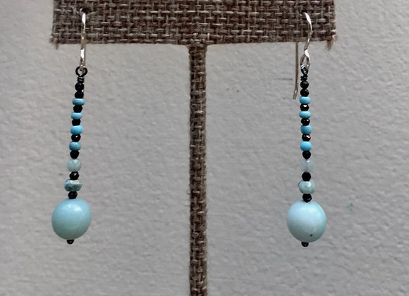 Amazonite/Pyrite Totem Earrings