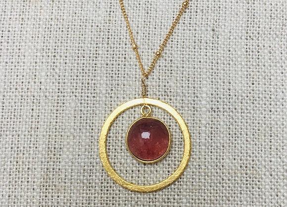 Strawberry Quartz Chain Necklace