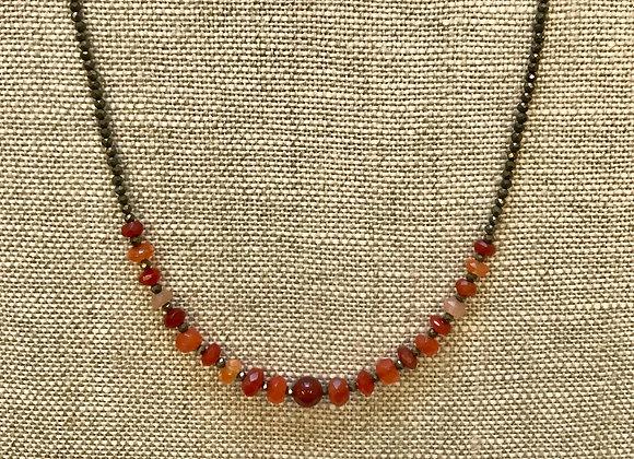 Carnelian Streamline Necklace