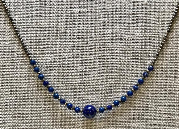 Lapis Streamline Necklace