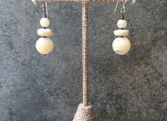 Mother-of-Pearl Cairn Earrings