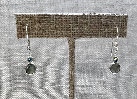 Labradorite Niblet Earrings