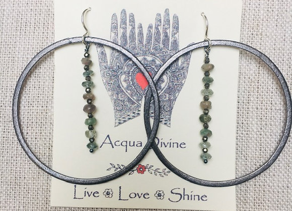 Tourmaline/Pyrite Ring Earrings