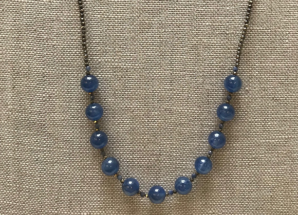 Kyanite Orb Necklace