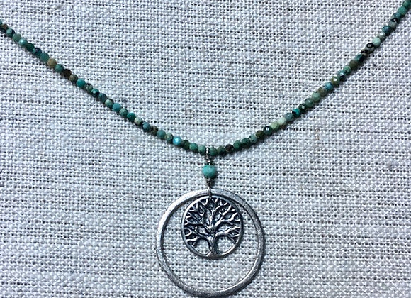 Turquoise Tree-of-Life Necklace