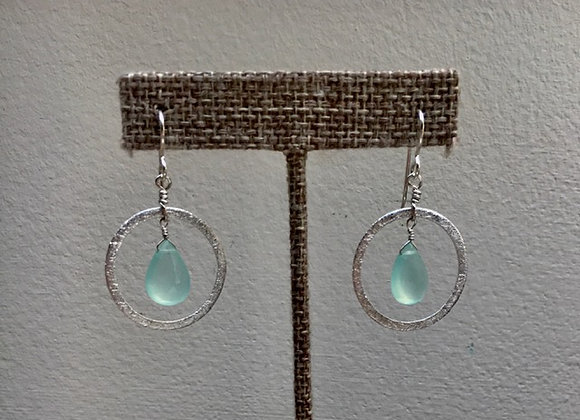 Chalcedony Ring Earrings