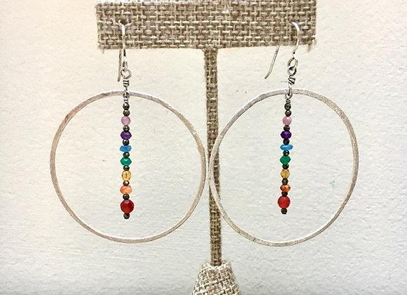 Chakra Ring Earrings