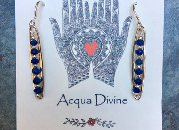 Sapphire Alignment Earrings