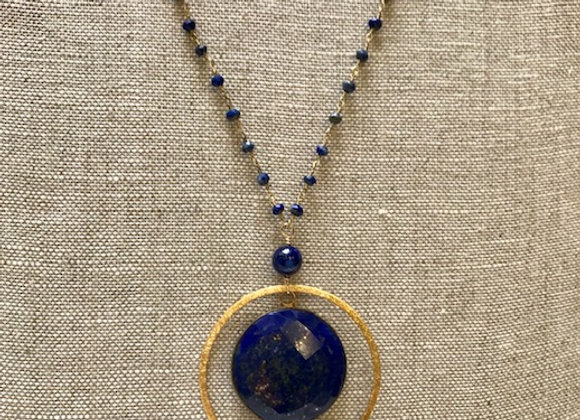 Long Lapis Ripples Necklace