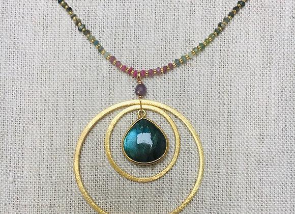 Tourmaline/Labradorite Ripples Necklace