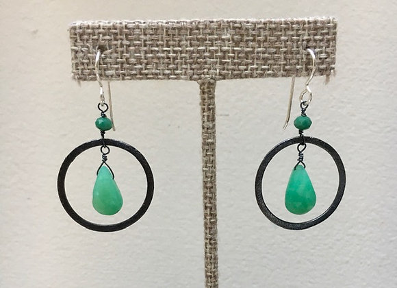 Chrysoprase Ripple Earrings