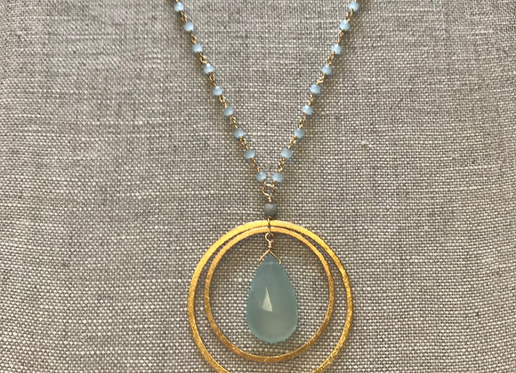 Long Chalcedony Ripples Necklace