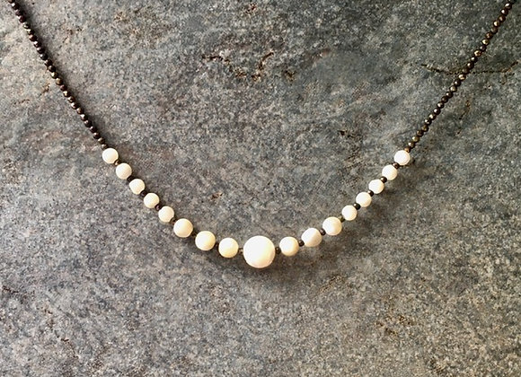 Mother-of-Pearl Streamline Necklace