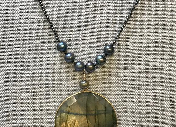 Labradorite/Pearl/Pyrite Yum!!