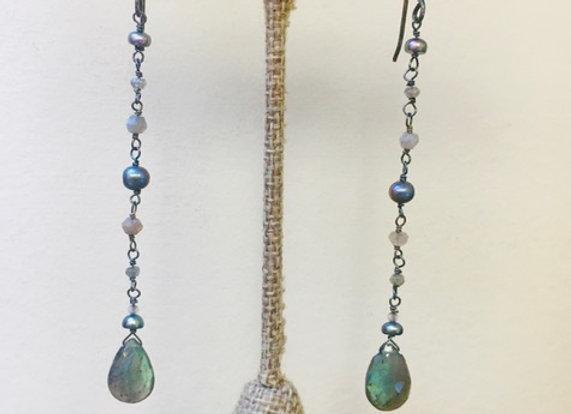 Labradorite Swing Earrings