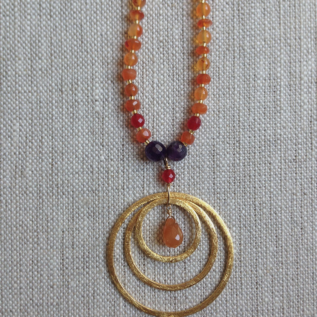 Flaming Carnelian and Amethyst.