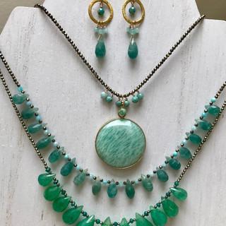 Amazonite/Fluorite/Emerald WOW!