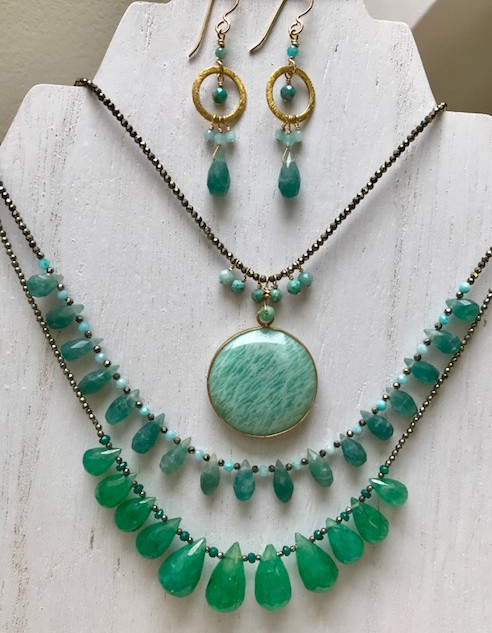 Amazonite/Fluorite/Emerald WOW!