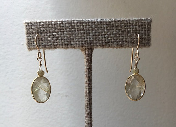 Dewdrop Rutilated Quartz Earrings