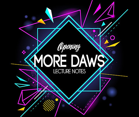 Opening More Daws Printed Notes