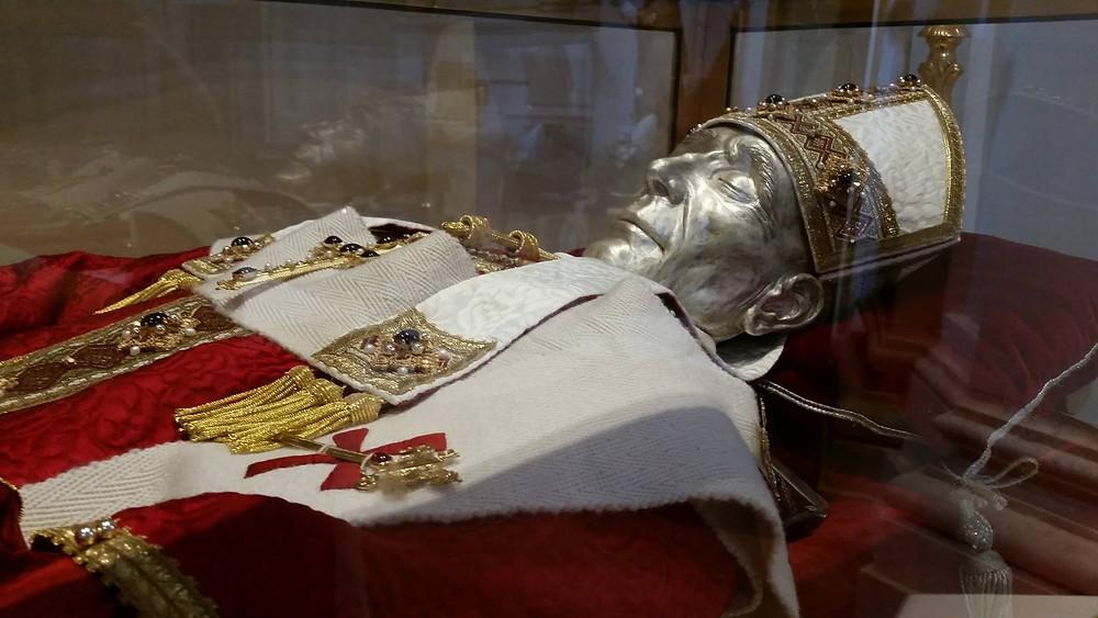 Paus Celestinus V in de San Giuseppe Artigiano