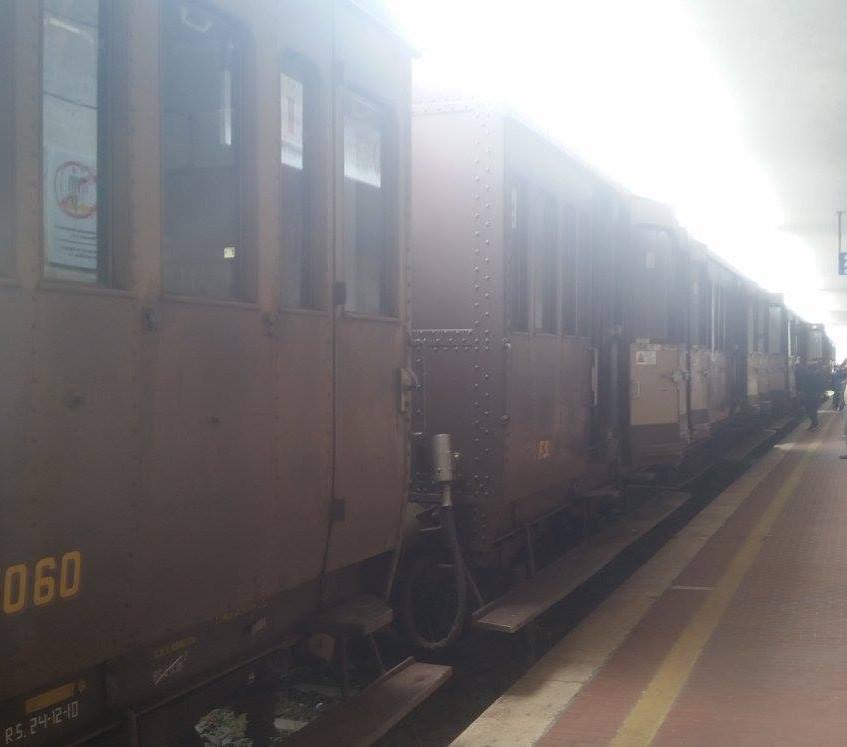 Op het station van Sulmona