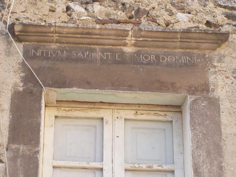 initium sapientiae timor Domini