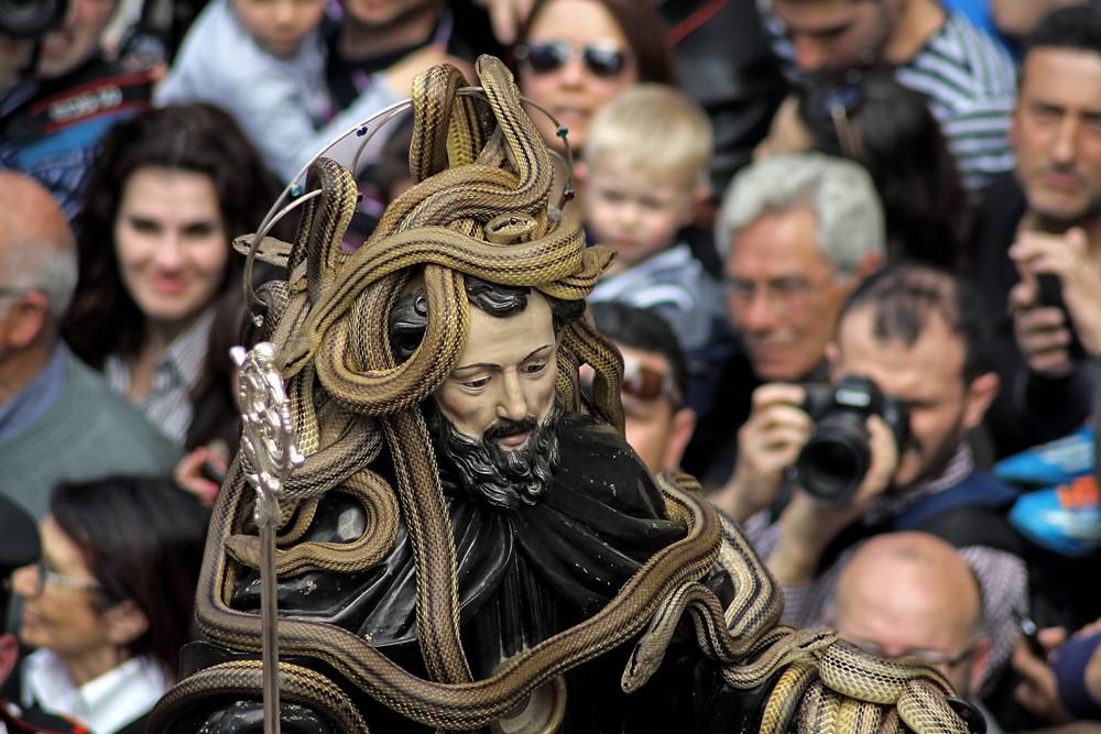 De heilige Dominicus tijdens de processie