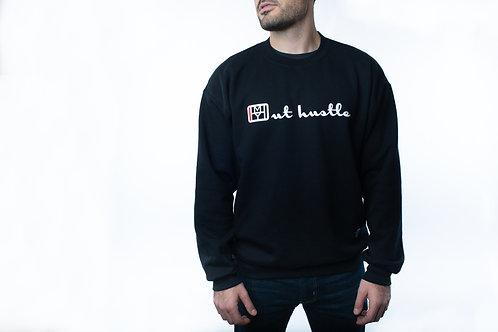 Out Hustle, Champion brand style crewneck sweater
